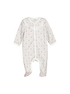 Baby girls' velour sleepsuit FOU1GRE2 / 19SF0512GRE099