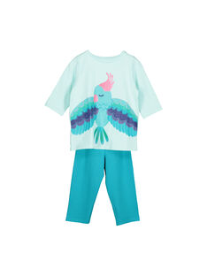 Girls' cotton pyjamas FEFAPYJPLU / 19SH1194PYJ203