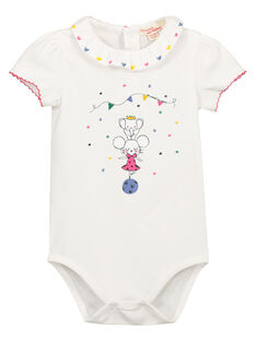 Baby girls' bodysuit with collar FICOBOD / 19SG0981BOD000