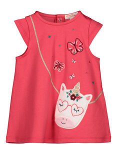 Baby girls' T-shirt dress GIVEROB2 / 19WG0922ROBD318