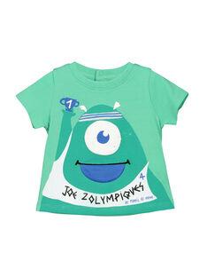Light green T-shirt FUNETI1 / 19SG10B1TMC602