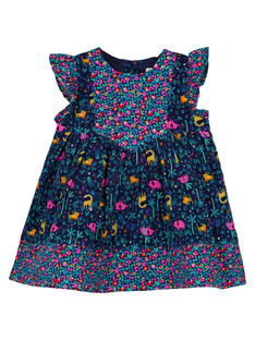 Baby girls' printed flared dress GIMUROB3 / 19WG09F2ROB070