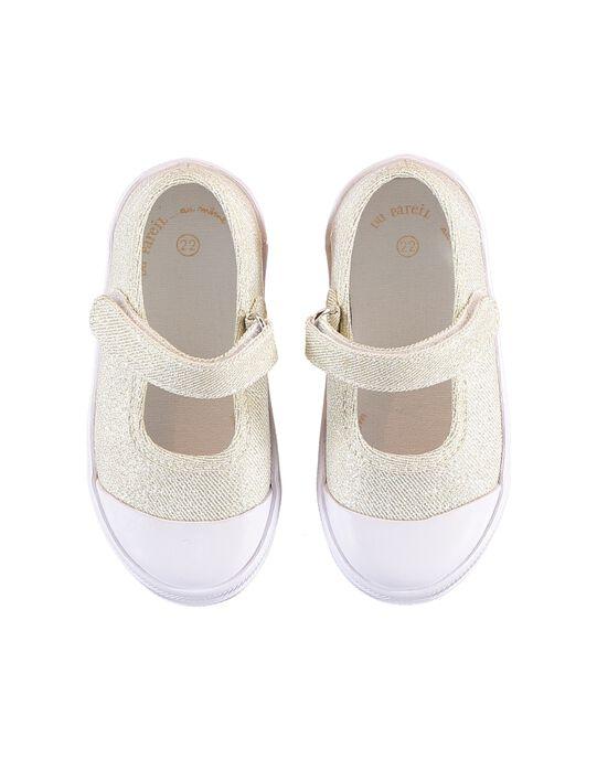 Gold Salome canvas shoes JBFBABDORE / 20SK37Z4D17954