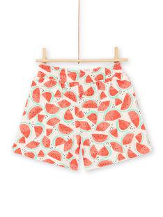 Watermelon print jersey shorts LAJERSHORT1 / 21S901F1D30D322