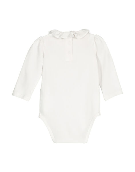 Baby girls' long-sleeved bodysuit FOU1BOD8 / 19SF051EBOD000
