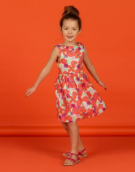 Girl's floral print sleeveless dress LAVIROB1 / 21S901U1ROB000