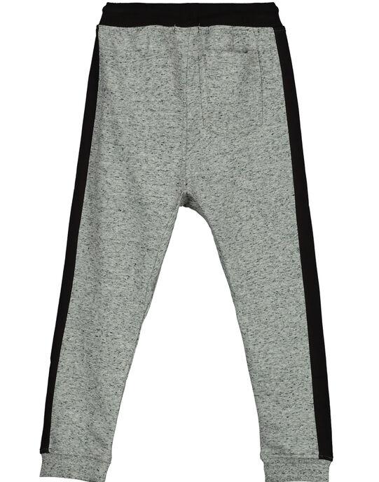 Boys' grey marl jogging bottoms GOBLEPAN2 / 19W90292PANJ922