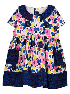 Baby girls' mixed floral print dress GIBLEROB / 19WG0991ROB000