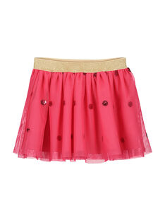 Girls' pink tulle skirt FACAJUP2 / 19S901D2JUP302