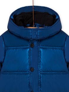 Child boy's metallic blue jacket MOGRODOU3 / 21W90262D3E717