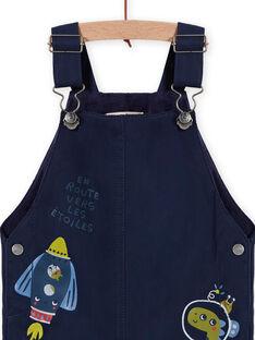 Baby boy dark blue space overalls MUPLASAL / 21WG10O1SALC243