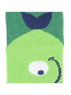 Baby boys' green ankle socks CYUJOCHO11A / 18SI10S9SOQ600