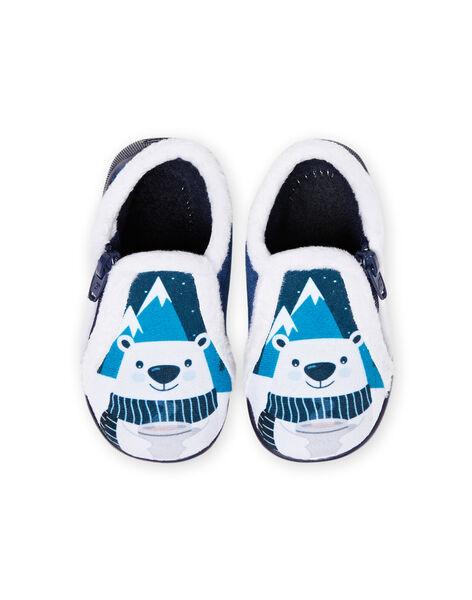 Baby boy two-tone bear slippers MUPANTPOL / 21XK3821D0A070