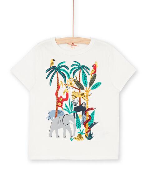 T-shirt short sleeves ecru child LOVITI4 / 21S902U4TMC001