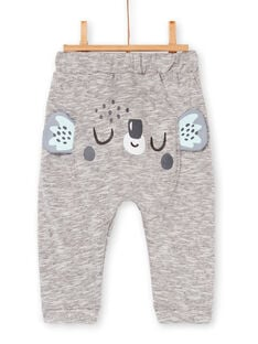 Grey pants mottled baby boy LUPOEPAN3 / 21SG10Y4PANA011