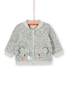 Grey heathered vest baby boy LUJOGIL4 / 21SG1034GILJ906