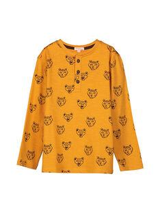 Boys' grandad collar T-shirt FOBATEE1 / 19S90261TML101