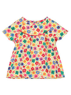 Baby girls' printed blouse FICOCHEM / 19SG0981CHE000