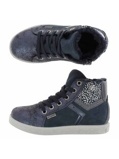 Girls' leather city trainers DFBASLIGHT / 18WK35TGD3F070