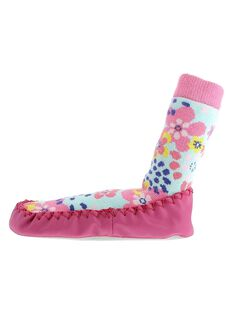 Girls' slipper socks CFCCFLEUR / 18SK35X1D08030