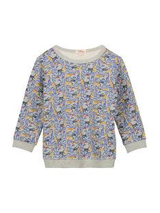 Boys' sweatshirt in a fancy print FOJOSWE2 / 19S90232SWBJ908
