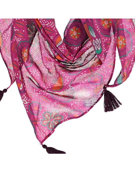 Girls' triangular scarf CYAGAUFOUL / 18SI01L1FOU099