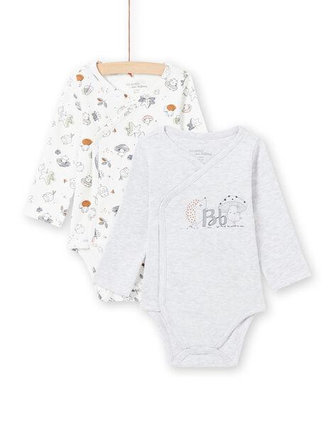 2 bodysuits white and grey birth mixed MOU1BOD3 / 21WF0541BODJ920