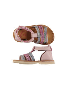 Baby girls' smart leather sandals FBFSANDISA / 19SK37K2D0E030