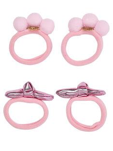 Clear pink Hair elastic JYADUELA / 20SI01W3ELA321