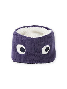 Baby boy's midnight blue knitted eye snood MYUTUSNOO / 21WI1051SNOC234