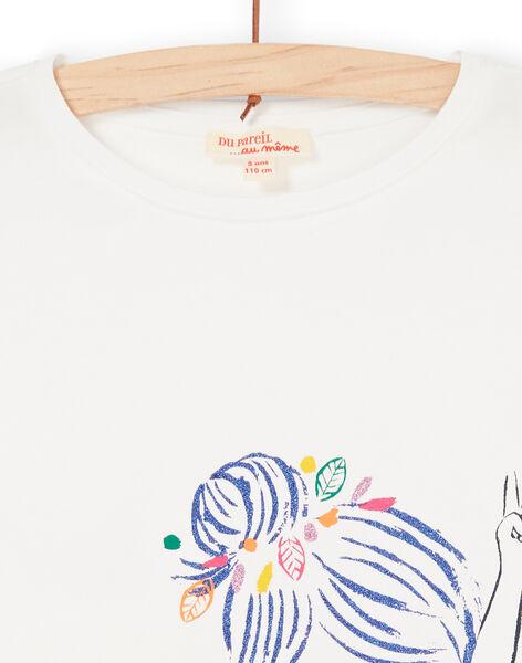 T-shirt ecru and blue LANAUTI2 / 21S901P1TMC001