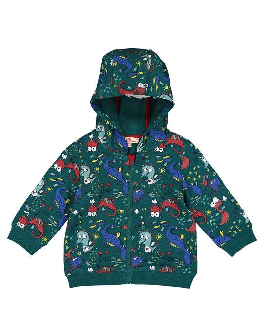 Baby boys' printed hoodie GUVEGIL / 19WG1021GIL608