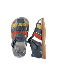 Baby boys' smart leather sandals. FBGSANDTRI / 19SK38K2D0EC218