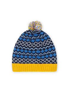 Blue tassel hat child girl jacquard pattern MYOGROBON6 / 21WI0268BON221