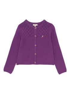 Purple Cardigan JASAUCAR / 20S901Q1CARH708