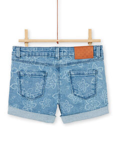 5 pocket shorts with floral print LAJOSHORT2 / 21S90142D30P272