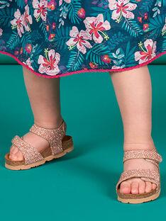 Baby Girl Pink Gold Sandals LBFNUGOLD / 21KK3757D0EK009