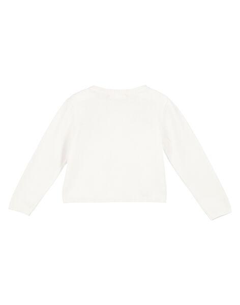 Girls' embroidered cardigan FATOCAR / 19S901L1CAR000