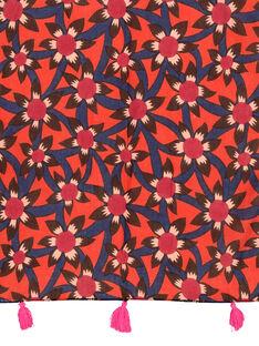 Girls' fancy print scarf FYABAFOUL / 19SI0161FOU099