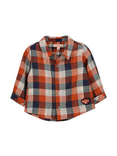 Baby boys' checked shirt FUBACHEM / 19SG1061CHM099