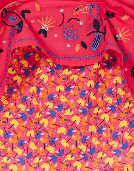 Pink dress with toucans embroidery LANAUROB3 / 21S901P3ROBF507