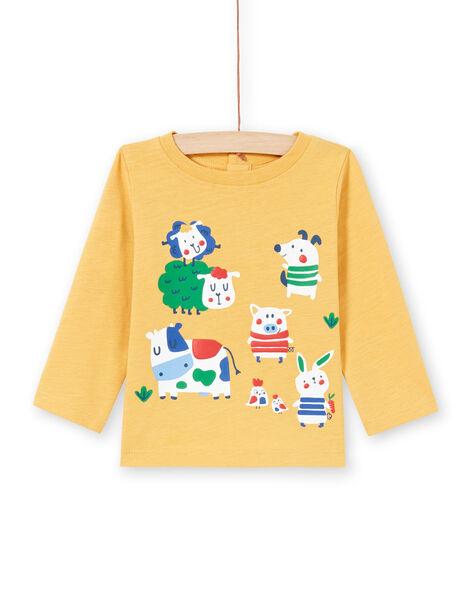 Baby Boy Yellow T-Shirt MUMIXTEE2 / 21WG10J3TML117
