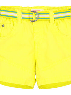 Baby boys' yellow shorts FUCABER1 / 19SG10D1BER117