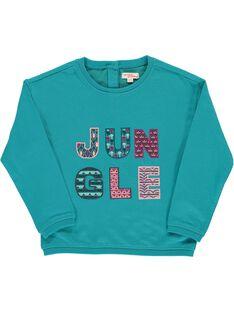 Girls' lightweight sweatshirt CADOUSWEA / 18S901J1SWE202
