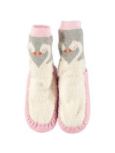 Girls' slipper socks DFCCSWA / 18WK35W2D08956