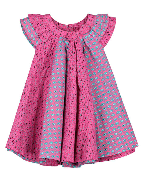 Baby girls' poplin dress FITUROB4 / 19SG09F4ROB712
