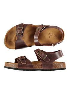 Boys' smart leather sandals FGNUBOUCL2 / 19SK36D7D0E802