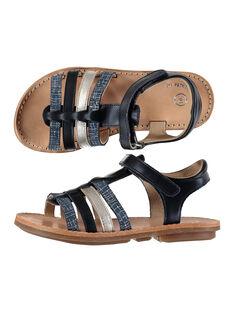 Girls? smart leather multi-strap sandals FFSANDMIN3 / 19SK35B1D0E070