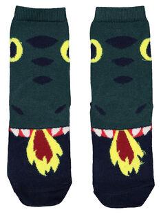 Boys' printed socks GYOVECHO / 19WI0221SOQG614