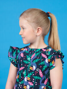 Black and green toucans print dress LANAUROB1 / 21S901P2ROBC205